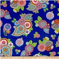 Night Bright Paisley and Floral Blue