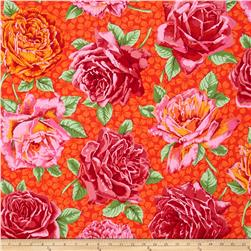 Kaffe Fassett Rose Bloom Red