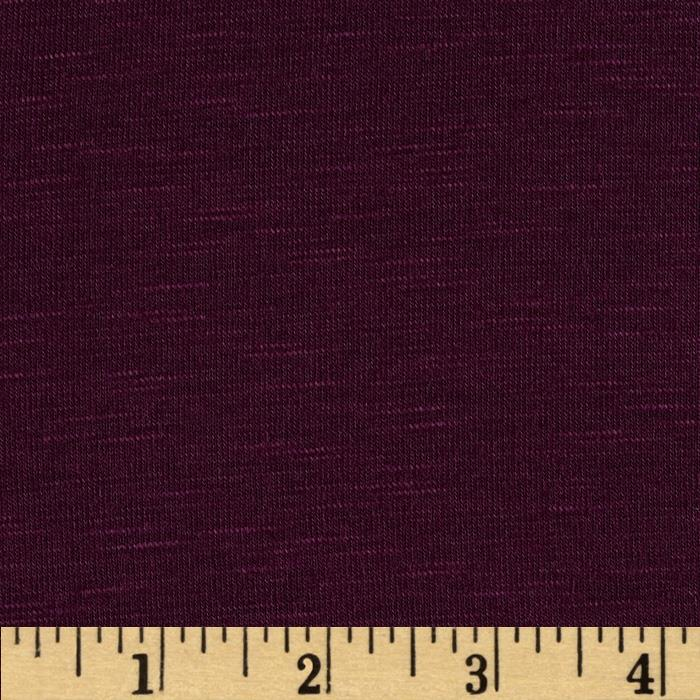 Arianne Stretch Slub Jersey Knit Purple