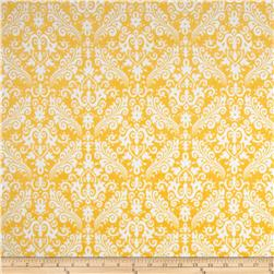 Riley Blake Flannel Medium Damask Yellow Fabric