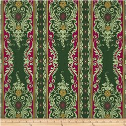 Anna Griffin Yuletide Greetings Festive Stripe Green