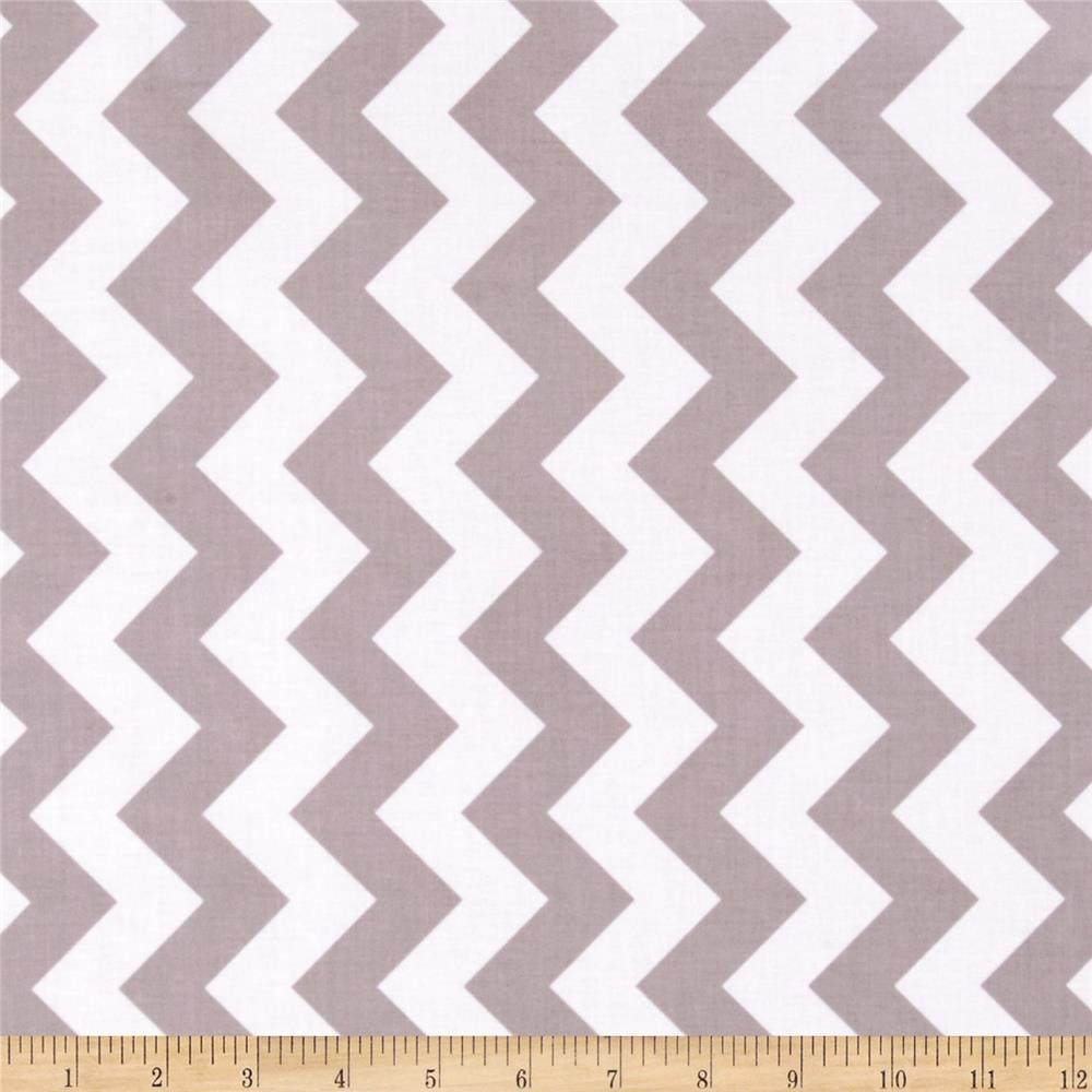 Riley Blake Laminate Medium Chevron Grey