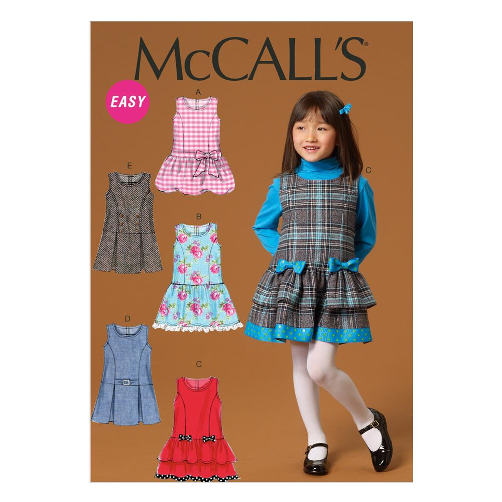 McCall's Children's/Girls' Jumpers Pattern M7008 Size CDD