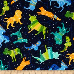 Robert Kaufman Night Sky Celestial Animals Midnight