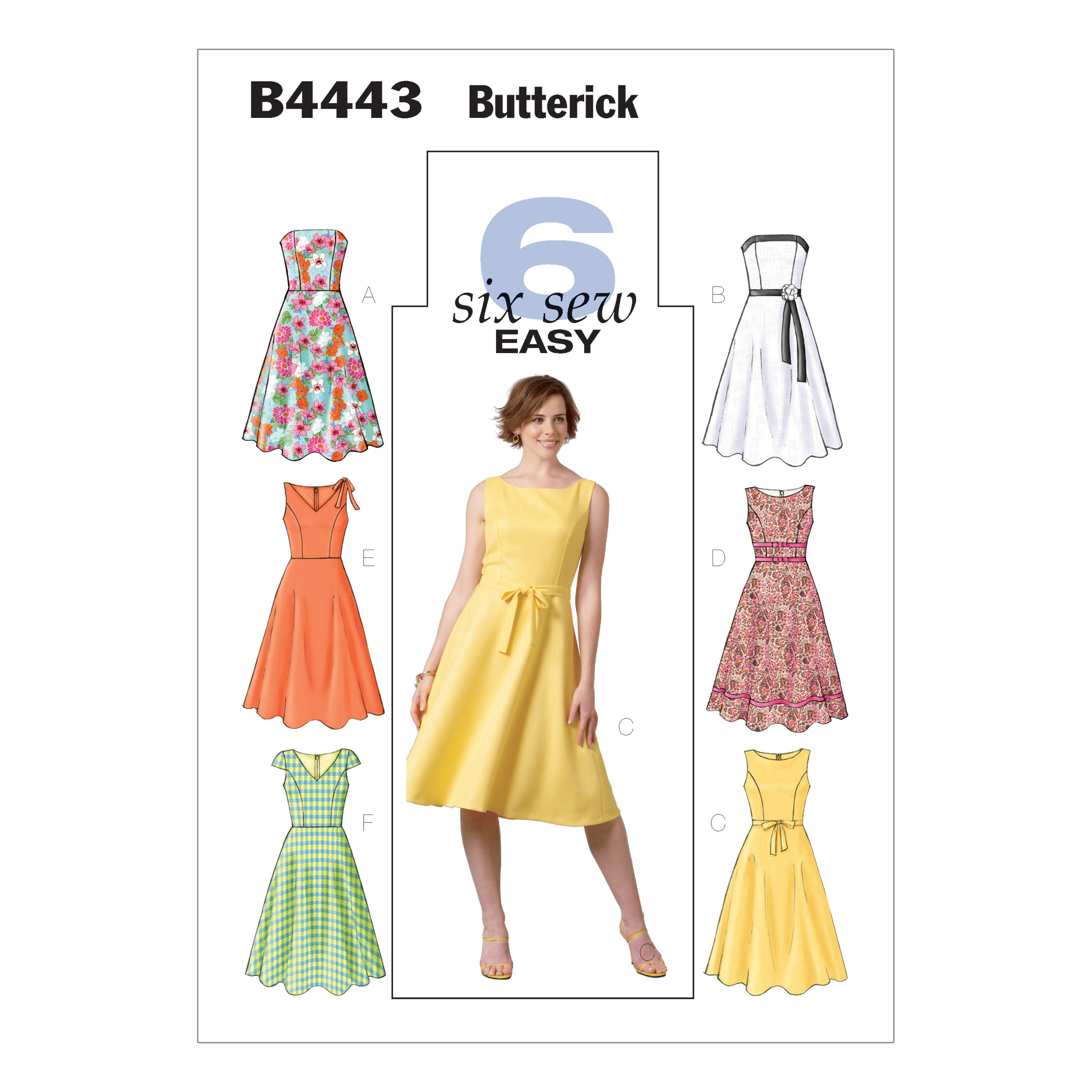 1950s Sewing Patterns- Dresses, Skirts, Tops, Pants Butterick MissesMisses Petite Dress Pattern B4443 Size BB0 $12.48 AT vintagedancer.com