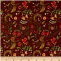 Wild Woods Butterfly Floral Brown