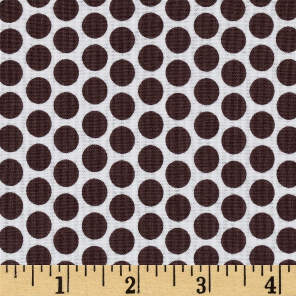 Riley Blake Honeycomb Reversed Dot White/Brown