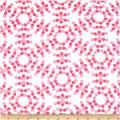 "108"" Spot On Quilt Backs Circle Dots Bubblegum"