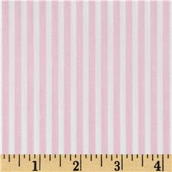Morocco Blues Stretch Cotton Shirting Baby/Pink/White