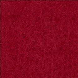 Terry Cloth Cuddle Red Fabric