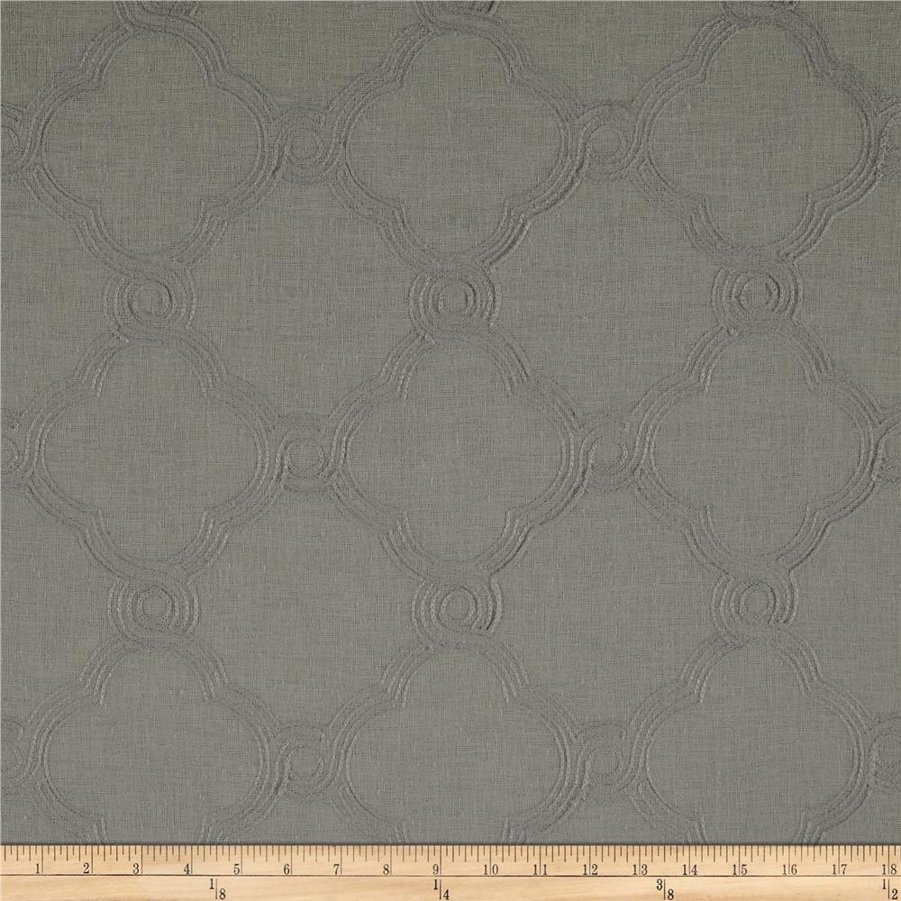 World Wide Faux Linen Sheer Eva Silver