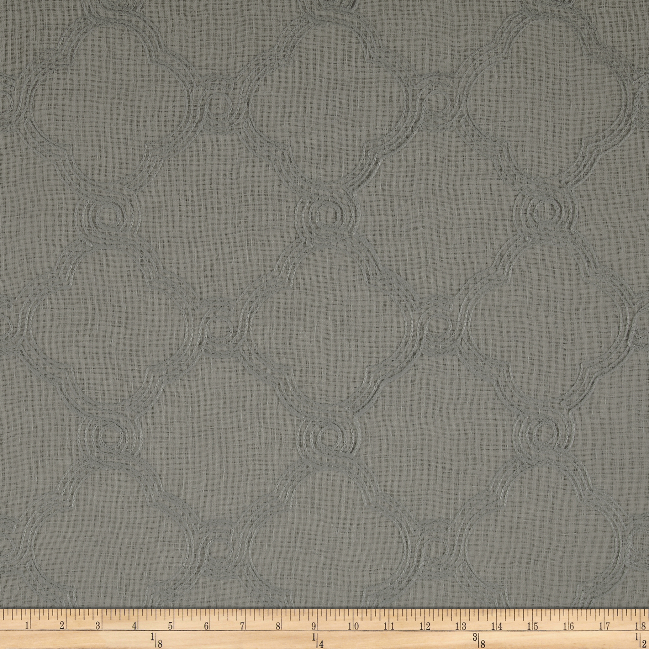 World Wide Faux Linen Sheer Eva Silver Fabric