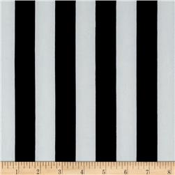 Stretch ITY Jersey Knit Classic Stripe Black and White