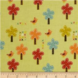 Riley Blake Giraffe Crossing Giraffe Trees Green