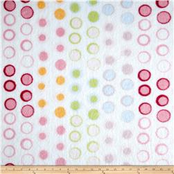 Minky Circle White/Multi