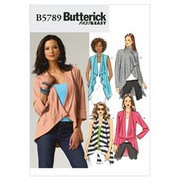 Butterick Misses' Vest and Jacket Pattern B5789 Size 0Y0