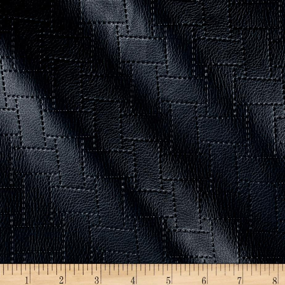 Richloom Faux Leather Garvin Patchwork Navy