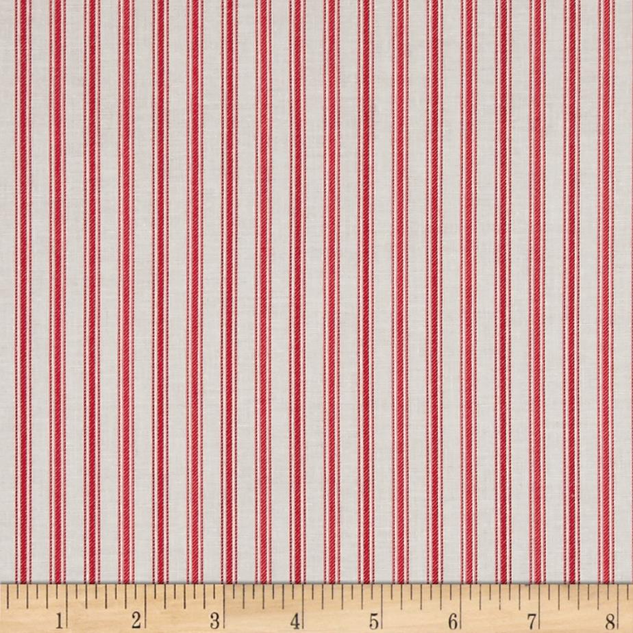 Country Days Stripe Red Fabric