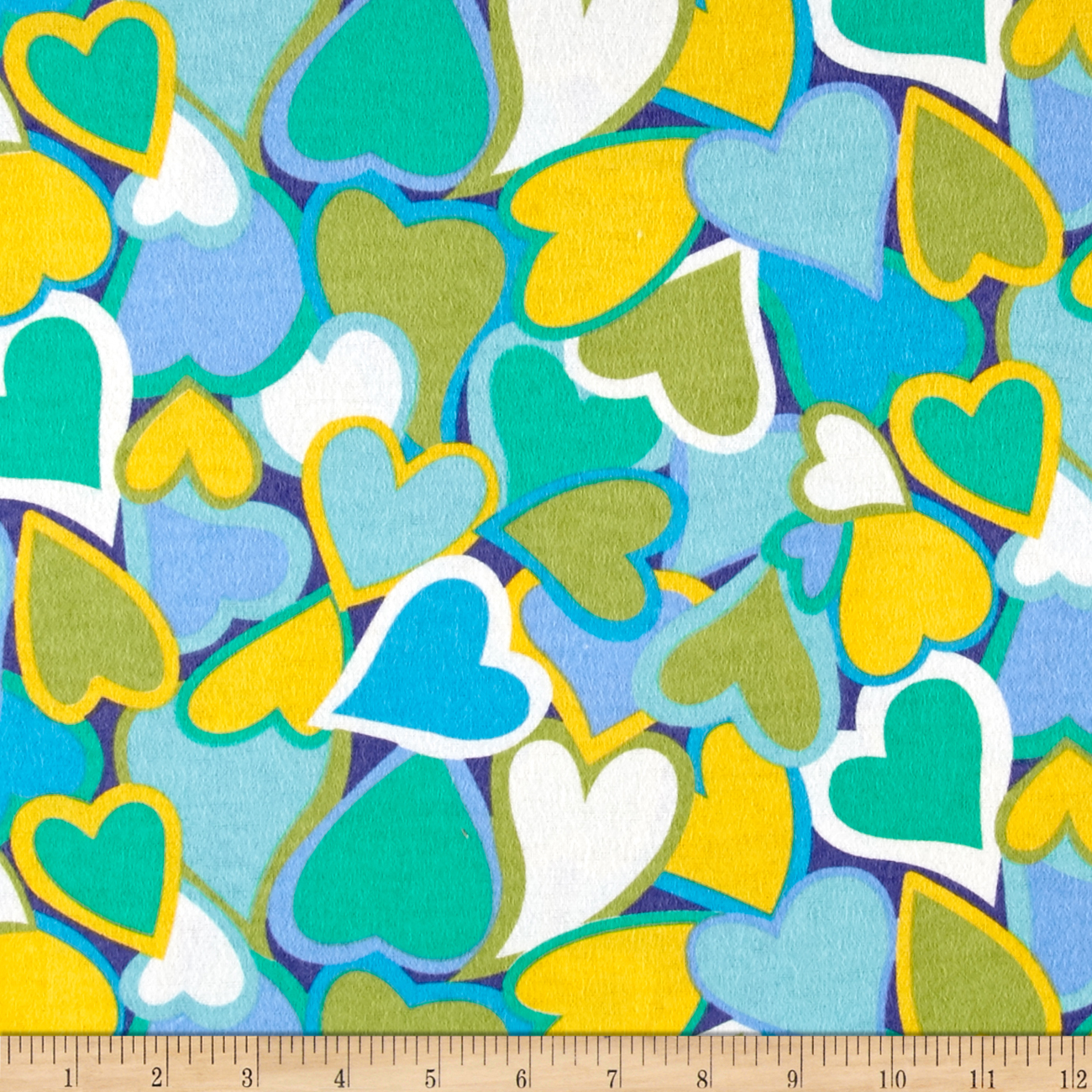 Be Mine Flannel Lagoon Fabric by Newcastle in USA