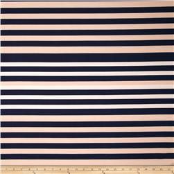 ITY Jersey Knit Stripes Tan/Navy/Blue