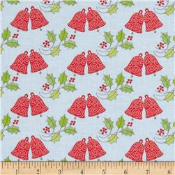 Season's Greetings Bells & Holly Multi/Blue