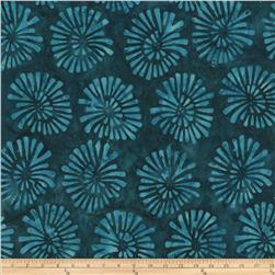 Tonga Batiks Cabana Abstract Daisy Teal Fabric