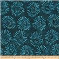 Tonga Batiks Cabana Abstract Daisy Teal
