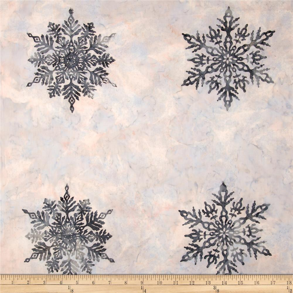 Bali Batiks Snowflake Panel December