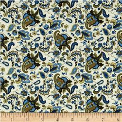 Timeless Treasures Majesty Paisley Cream