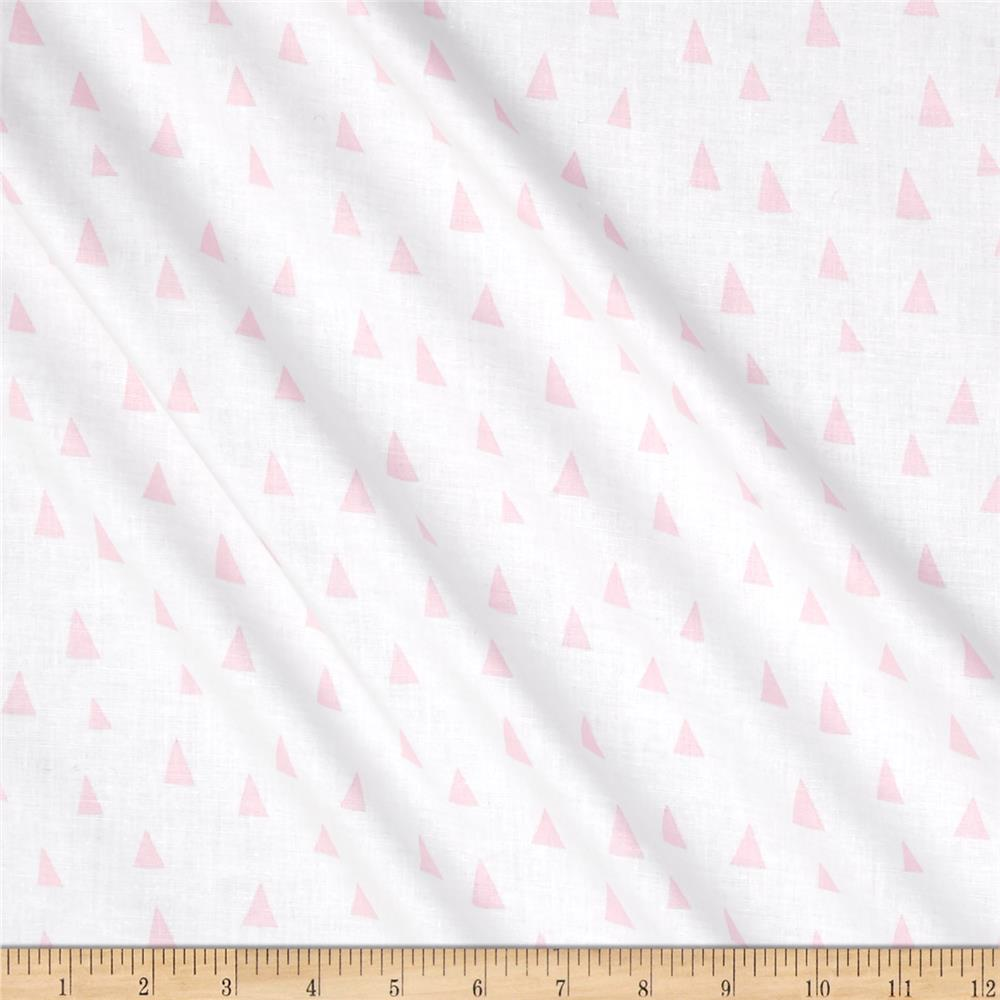 Kaufman Penned Pals Triangles Pink