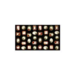 "Timeless Treasures Glamourous Holiday Christmas 23"" Panel Labels Black"