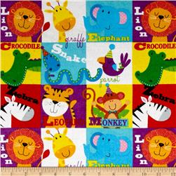 Comfy Flannel Animal Blocks Multi