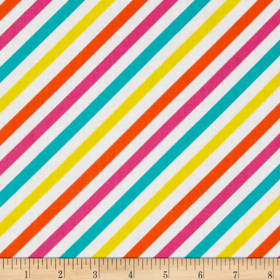Diagonal Candy Stripe Bright Multi