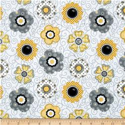 Sew Bee It Floral White