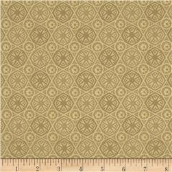 African Inspirations Decorative Medallions Cream Fabric