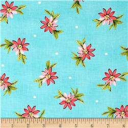Michael Miller Delightful Playful Posies Raspberry Fabric
