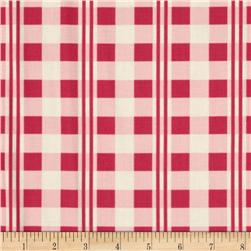Heavenly Peace Ribbon Plaid Cranberry