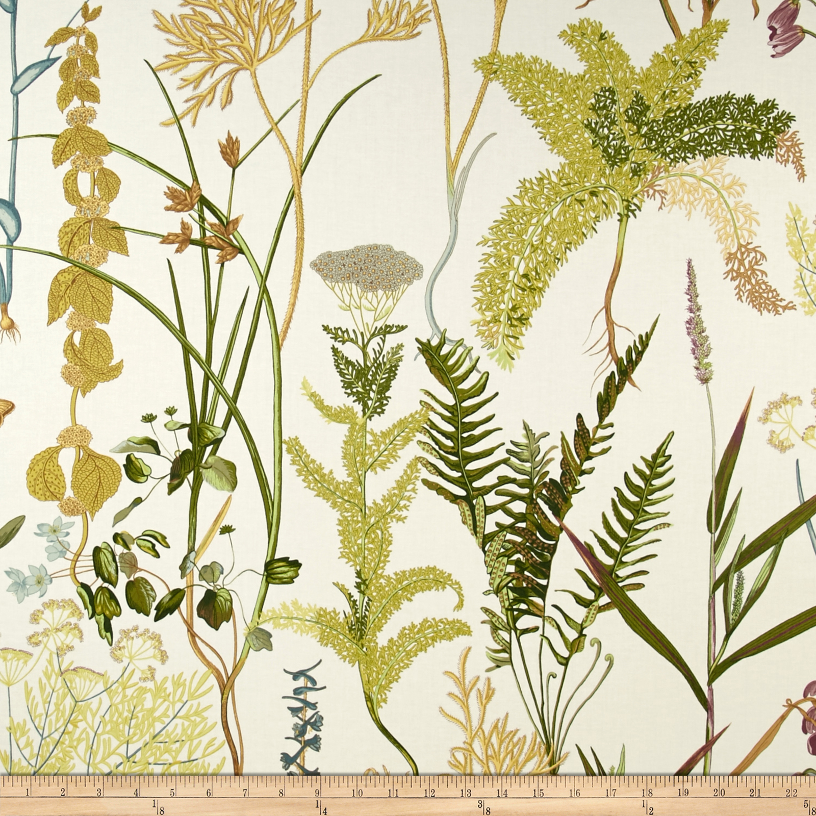 Image of Braemore Fern Twill Spring Fabric