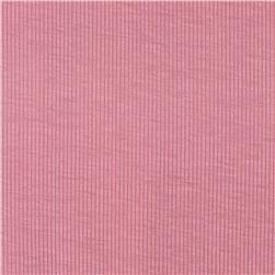 Stretch Cotton Poly Rib Knit Pink Fabric