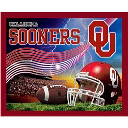 Collegiate Fleece Panel University of Oklahoma Crimson Fabric
