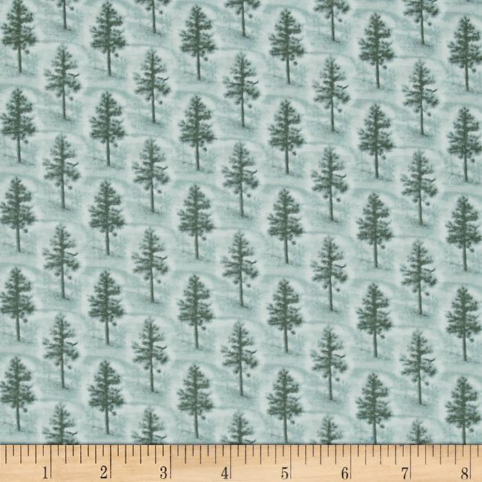 Quilting Treasures Native Pine Pine Tree Tonal Teal Blue