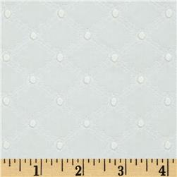 Michael Miller Lattice Cotton Eyelet White