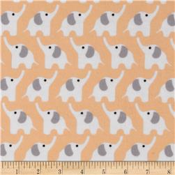 Cloud 9 Organic Fanfare Flannel Elephants Pink