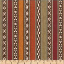 Laura & Kiran Southwest Stripes Aztec Rust Multi