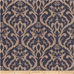 Fabricut Costner Damask Faux Silk Navy