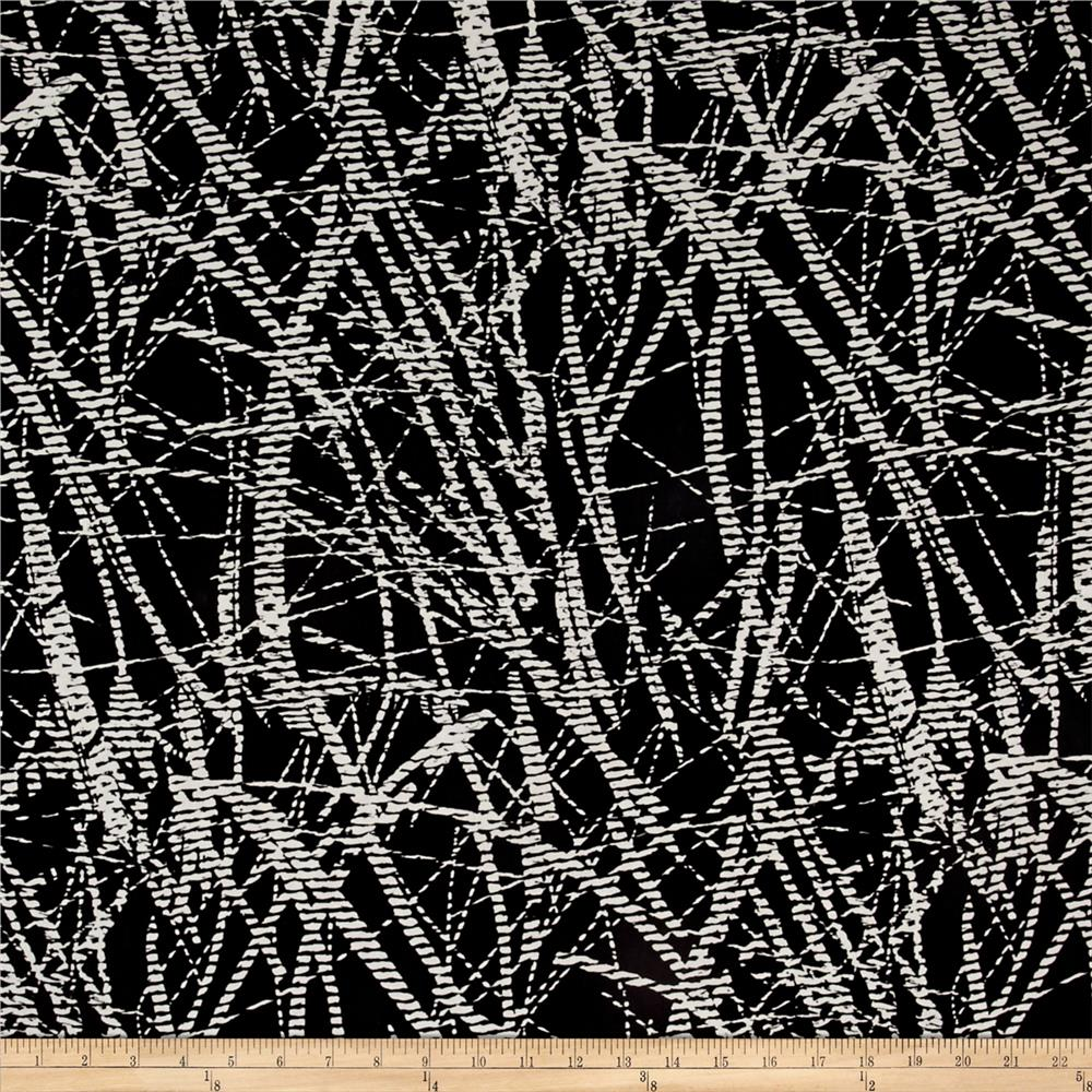 Shirting Barbed Wire Black/White Fabric