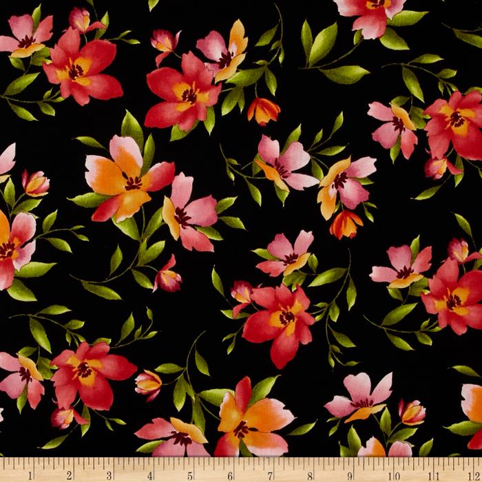 Catalina Small Floral Black