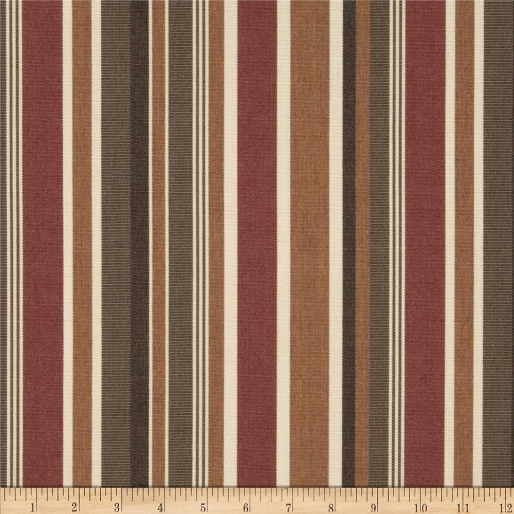 Sunbrella Stripe Brannon Redwood