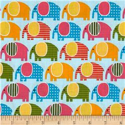 Urban Zoologie Elephants Spring Fabric