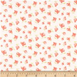 Moda Sweet Baby Flannel Sweet Roses Blossom/Cloud